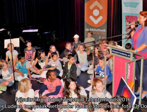 Videoreportage Prijsuitreiking Schrijfwedstrijd Talentenloods 28 mei
